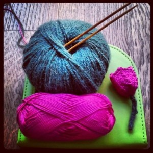 """La Signora Tulipano"" – Knit Cafè @ Wool Crossing"