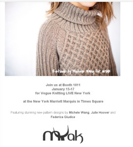 """Orizzonti Tibetani"" a Vogue Knitting LIVE New York"