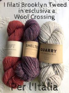 I filati Brooklyn Tweed in esclusiva a Wool Crossing per l'Italia