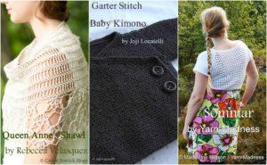 Summer KAL & CAL: Sommar, Garter Stitch Baby Kimono, Queen Anne's Shawl